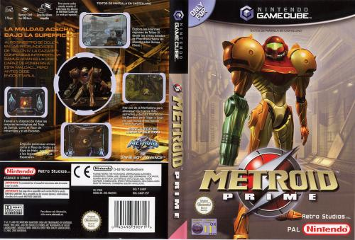 Metroid Prime (Europe) (En,Fr,De,Es,It) Cover - Click for full size image