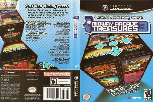 Midway Arcade Treasures 3 Cover - Click for full size image