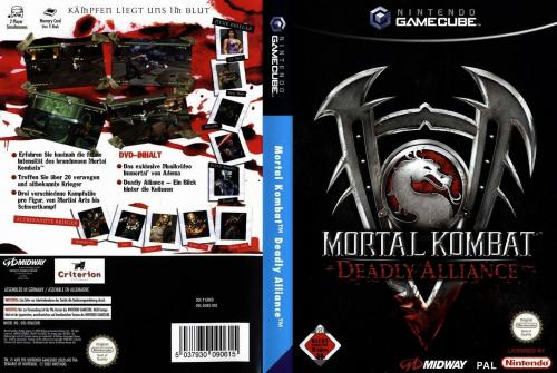 Mortal Kombat Deadly Alliance Cover - Click for full size image