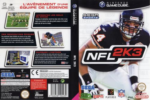 NFL 2K3 (Europe) Cover - Click for full size image