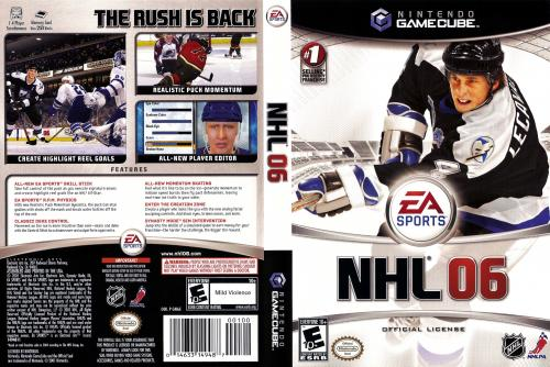 NHL 06 Cover - Click for full size image