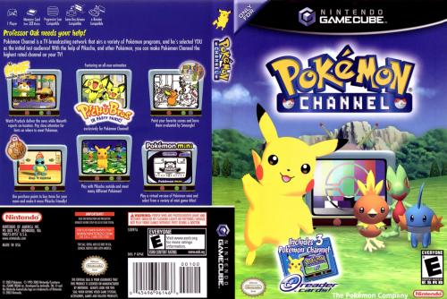 Pokemon Channel (Europe) (En,Fr,De,Es,It) Cover - Click for full size image