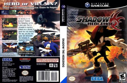 Shadow The Hedgehog Cover - Click for full size image