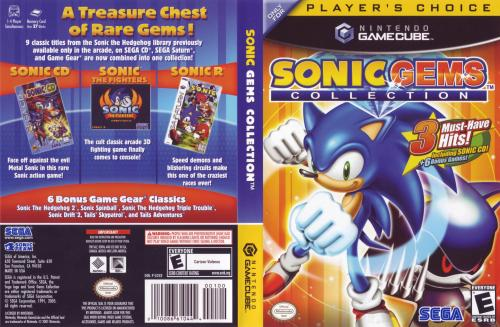 Sonic Gems Collection (Europe) (En,Fr,De,Es,It) Cover - Click for full size image