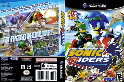 Sonic Riders Cover - Click for full size image