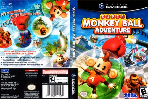 Super Monkey Ball Adventure Cover - Click for full size image