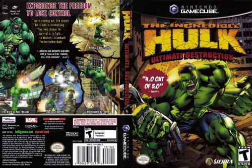 The Incredible Hulk Ultimate Destruction Cover - Click for full size image