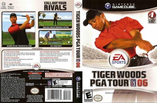 Tiger Woods PGA Tour 06 Cover - Click for full size image