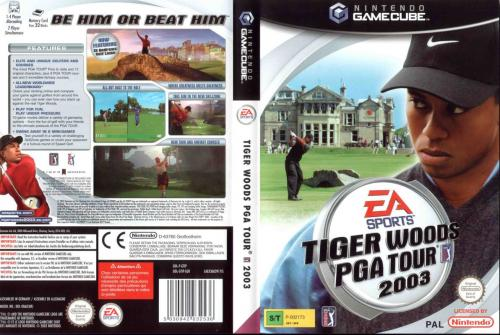 Tiger Woods PGA Tour 2003 Cover - Click for full size image