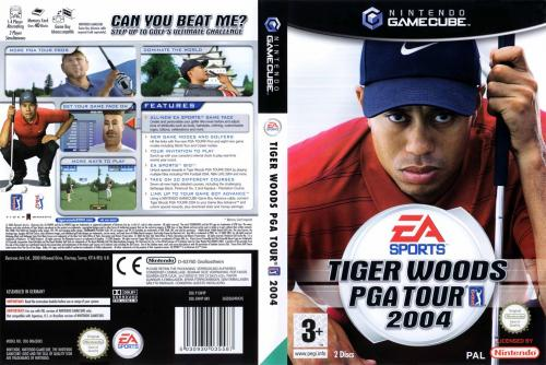 Tiger Woods PGA Tour 2004 (Europe) (Disc 1) (v1.00) Cover - Click for full size image