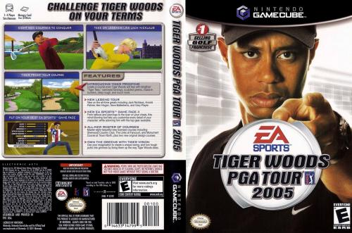 Tiger Woods PGA Tour 2005 (Disc 1) Cover - Click for full size image
