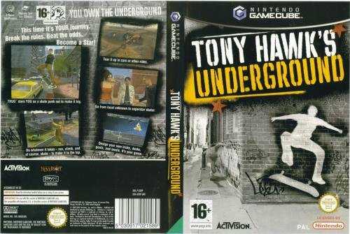Tony Hawks Underground Cover - Click for full size image