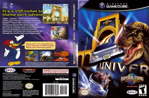 Universal Studios Theme Park Adventure (Europe) (En,Fr,De,Es) Cover - Click for full size image
