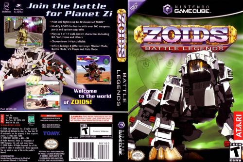 Zoids Battle Legends Cover - Click for full size image