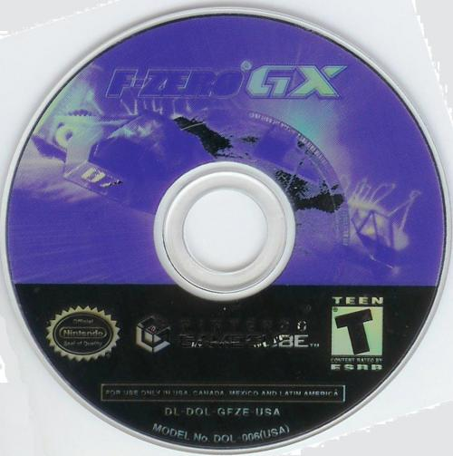 F-Zero GX Disc Scan - Click for full size image