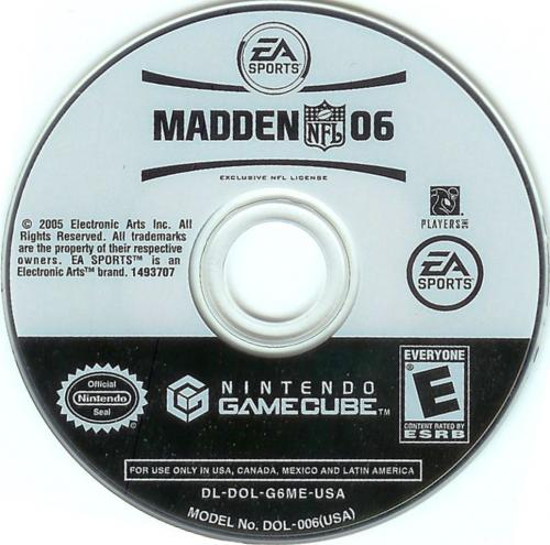 Madden NFL 06 (Europe) Disc Scan - Click for full size image