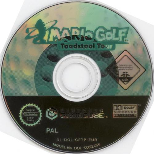 Mario Golf Toadstool Tour Disc Scan - Click for full size image