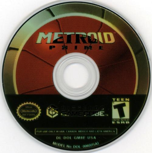 Metroid Prime (Europe) (En,Fr,De,Es,It) Disc Scan - Click for full size image