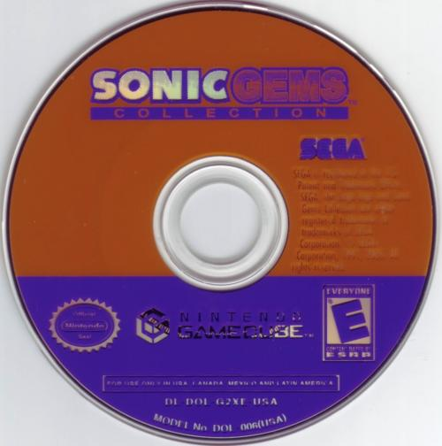 Sonic Gems Collection (Europe) (En,Fr,De,Es,It) Disc Scan - Click for full size image
