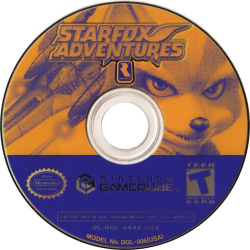 Star Fox Adventures Disc Scan - Click for full size image