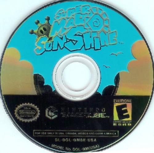 Super Mario Sunshine (Europe) (En,Fr,De,Es,It) Disc Scan - Click for full size image