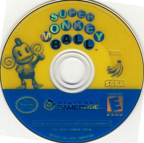 Super Monkey Ball Disc Scan - Click for full size image