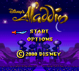 Aladdin (Europe) (En,Fr,De,Es,It,Nl) Title Screen