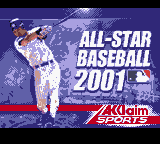All-Star Baseball 2001 (USA) Title Screen