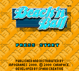 Beach'n Ball (Europe) (En,Fr,De,Es,It) Title Screen