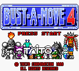 Bust-A-Move 4 (USA, Europe) Title Screen