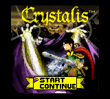 Crystalis (USA) Title Screen