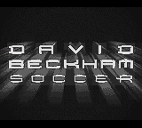 David Beckham Soccer (Europe) (En,Fr,De,Es,It) Title Screen