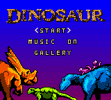 Dinosaur (Europe) (En,Fr,De,Es,It) Title Screen