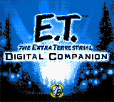 E.T. The Extra Terrestrial - Digital Companion (USA) Title Screen
