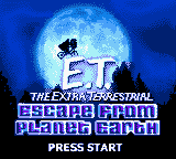 E.T. The Extra Terrestrial - Escape from Planet Earth (USA) Title Screen