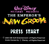 Emperor's New Groove, The (USA) Title Screen