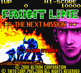 Front Line - The Next Mission (Japan) Title Screen