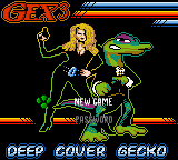 Gex 3 - Deep Cover Gecko (Europe) (En,Fr,De,Es,It) Title Screen