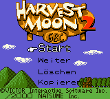 Harvest Moon 2 GBC (Germany) Title Screen