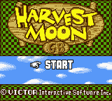 Harvest Moon GB (Europe) Title Screen