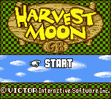 Harvest Moon GB (Germany) Title Screen