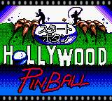 Hollywood Pinball (Japan) Title Screen