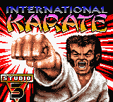 International Karate 2000 (Europe) Title Screen