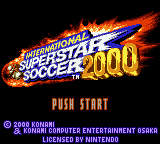 International Superstar Soccer 2000 (Europe) Title Screen