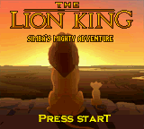 Lion King, The - Simba's Mighty Adventure (USA) Title Screen