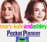 Mary-Kate and Ashley - Pocket Planner (USA) Title Screen