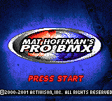 Mat Hoffman's Pro BMX (USA) Title Screen