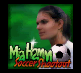 Mia Hamm Soccer Shootout (USA) Title Screen