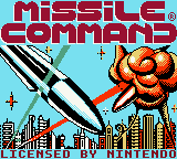 Missile Command (Europe) Title Screen