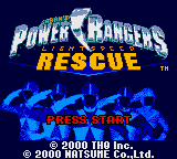 Power Rangers - Lightspeed Rescue (USA, Europe) Title Screen